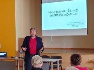 Doc.psichiatras-Rytis Leonavičius užbūrė savo charizma ir profesionalumu.